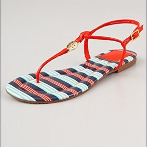 Tory Burch Emmy flat thong sandals.coral